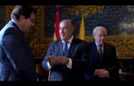 El alcalde recibe al presidente de la Cámara de Comercio y el teniente de alcalde de Burgos