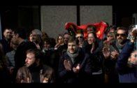 Profesores interinos de Algeciras van a la huelga y se manifiestan por la estabilidad laboral