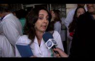 Sanitarios y Sindicatos se concentran por el asalto de encapuchados en el Hospital de La Línea