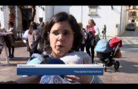 Una treintena de personas se concentran  en la Plaza Alta para rechazar la violencia de género