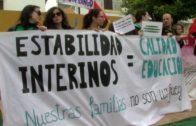 Los profesores interinos se manifiestan en Algeciras,