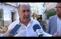 Continúan a buen ritmo las obras de mejora en la calle Sáez Laguna