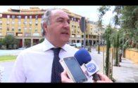 El ayuntamiento realiza trabajos de mejora en el entorno del ferial y de la fuente de El Milenio