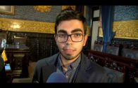 El joven trombonista Carlos Jiménez recibe el homenaje del Ayuntamiento de Algeciras