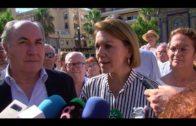 La precandidata a la presidencia del PP María Dolores de Cospedal visita  Algeciras