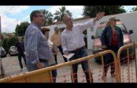 Miembros del PSOE de Algeciras visitan las obras de la calle Isabel Pantoja