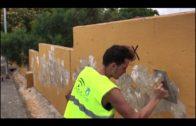 Reparación del muro exterior del CEIP Caetaria
