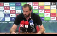Javier Viso, entrenador del Algeciras CF, comparece antes del partido ante el Gerena este domingo
