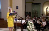 Palma Paloma Sarria ofreció su pregón a la Patrona, la Virgen de la Palma