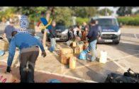 Intervenidos 3.250 kilos de hachís y detenidas 8 personas en una operación contra el narcotráfico