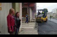 Pajares y Zarzuela supervisan los trabajos de asfaltado de Jacinto Benavente