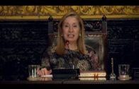El alcalde recibe oficialmente a la presidenta del Congreso en el salón de plenos de Algeciras