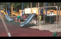 El parque infantil de la Feria ya se encuentra instalado en su nueva ubicación