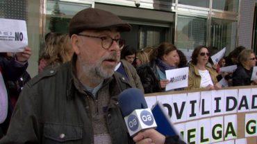 Trabajadores de Justicia se concentran en contra de la reforma de la Ley Orgánica del Poder Judicial