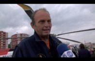Con motivo de su 25 aniversario, Salvamento Marítimo exhibe en Algeciras su helicóptero Helimer 205
