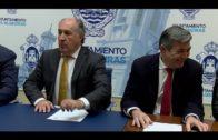 Landaluce preside la firma del acta de recepción de la primera fase de la obra de colector