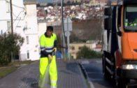 Algesa comienza la limpieza de choque de acerados y carreteras en la Piñera