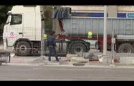 Obras de remodelación de la mediana de la avenida Virgen del Carmen