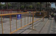 Comienza la instalación en la Plaza Alta del nuevo vallado de  Semana Santa