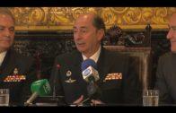 Mandos del buque 'Juan Carlos I' visita el Ayuntamiento de Algeciras