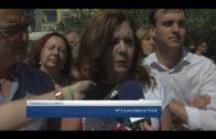 Los socialistas algecireños trasladan sus propuestas en materia de seguridad en el mercadillo