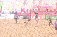 Laura Gil y Gonzalo Cervera concentrados con las selecciones nacionales de Balonmano Playa