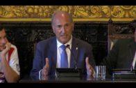 Landaluce recibe al Algeciras CF en el salón plenario