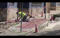 Avanzan a buen ritmo las obras para reconstruir el muro de la antigua bilioteca