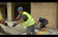 El ayuntamiento realiza obras de reparación del acerado de la calle Susana Marcos