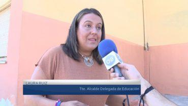 La delegación de Educación continúa con los trabajos de mantenimiento de los colegios