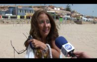Los usuarios de Getares, satisfechos con la dotación de servicios de la playa