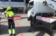 Comienzan los trabajos para renovar el alumbrado de la Plaza Andalucía