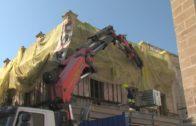 """Las obras de rehabilitación de la """"Casa Millán"""" continúan con la estabilización de la fachada"""