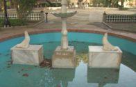 Puesta a punto de la «La Fuente de las Focas» en el parque María Cristina