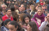 """La Plaza Alta abarrotada durante la celebración de las """"Campanadas Infantiles"""""""