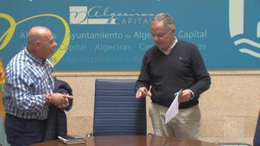 Reunión entre el delegado de Limpieza con el Sindicato Independiente de Trabajadores de ALGESA
