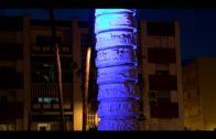 Algeciras ilumina de azul espacios emblemáticos con motivo del Día mundial del autismo.
