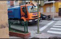 Algesa continúa con los trabajos de desinfección en calles y edificios públicos de la ciudad