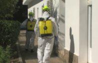 Bomberos desinfectan el Centro de Discapacitados Asansull