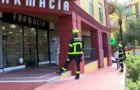 Bomberos desinfectan la Residencia Miramar y farmacias de Algeciras