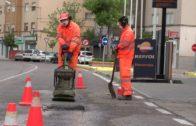 El Ayuntamiento continúa con la campaña de rebacheo en la zona de calle sindicalista Luis Cobo