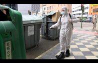 La UME continúa desinfectando lugares públicos