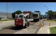 La Junta realiza trabajos de mejora en el asfaltado del recinto hospitalario de Algeciras