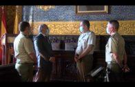 Landaluce despide al teniente coronel jefe del Acuartelamiento Adalides