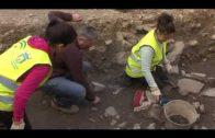 Trabajos de restauración de los restos arqueológicos de la tenería islámica de Juan Morrison