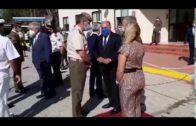 El alcalde da la bienvenida al nuevo comandante jefe del Batallón de Guerra Electrónica