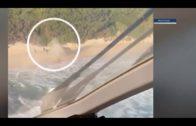 Detenidas cinco personas e interviene 300 kilos de hachís en un alijo frustrado en Tarifa