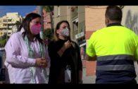 Ruiz supervisa los trabajos de mantenimiento que el Ayuntamiento realiza en el CEIP Puerta del Mar