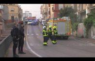 Bomberos actúan en un nuevo incendio del edificio conocido como «Patio Soto»