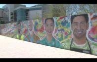 Finaliza el mural que representa la lucha de la sociedad contra la pandemia del coronavirus